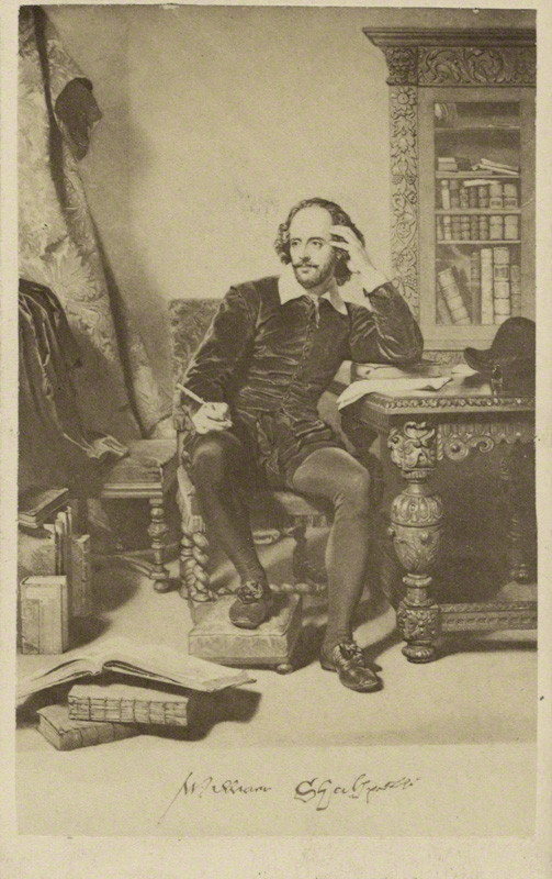 William Shakespeare after John Faed albumen carte-de-visite, 1864 or before 3 5/8 in. x 2 1/4 in. (92 mm x 58 mm) image size Given by Algernon Graves, 1916 NPG Ax39783